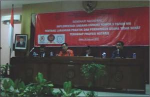 Mahasiswa Magister FH Sukses Adakan Seminar Nasional